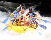 Rafting is one of the many options for guests on The California Native Costa Rica Tours